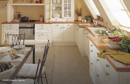 Cocinas de porcelanosa decoraci n - Cocina rustica blanca ...