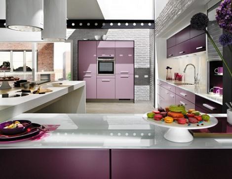 Cocinas color violeta – Decoración