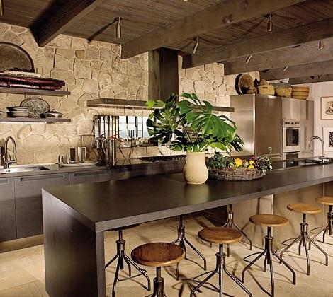 Fotos de inspiraci n de cocinas r sticas decoraci n for Cocinas para jardin