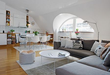 Sal n comedor y cocina integrados en un solo espacio for Cocinas y salones abiertos
