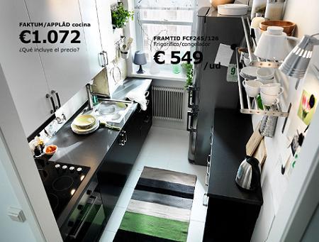 10 cocinas en color negro decoraci n - Cocina pequena ikea ...