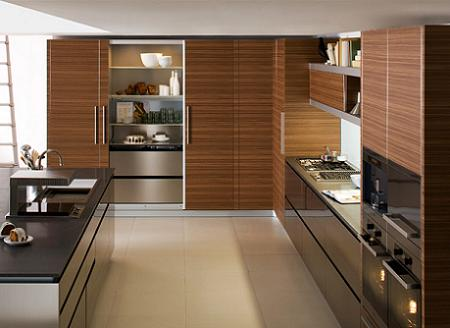 Cocinas funcionales on pinterest modern kitchens madrid - Cocina de madera moderna ...