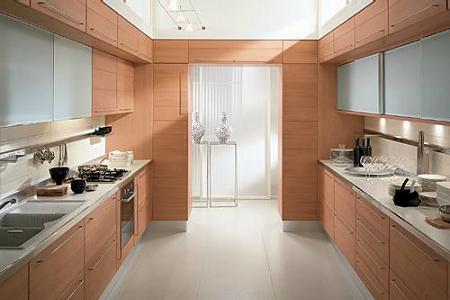 Cocinas modernas de madera Decoracin