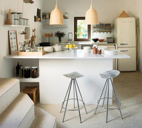 Imagen de cocina blanca