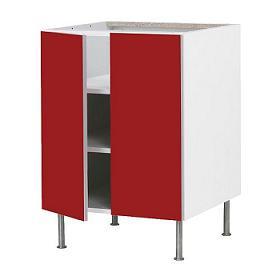 Decoraci n rojo fuego vivo en tu cocina for Ikea muebles cocina bajos