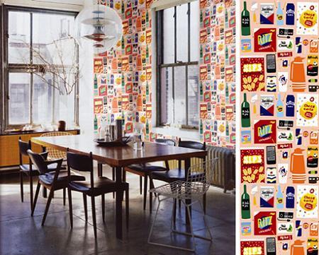 Papel pintado para cocinas decoraci n for Papeles pintados vinilicos