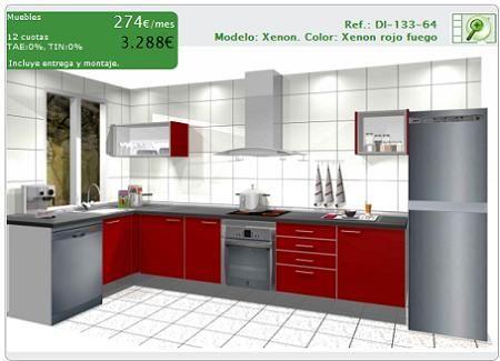 Casas cocinas mueble planificador de cocinas for Planificador cocinas gratis