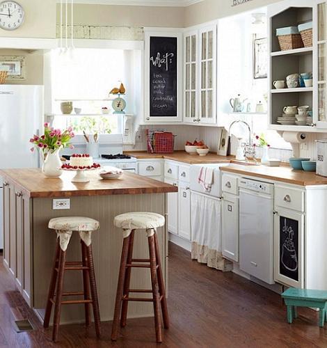 Cocinas rusticas blancas online for Cocinas integrales blancas