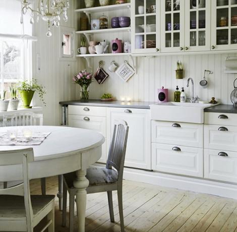 Decoraci n cocinas r sticas blancas - Cocinas rusticas en blanco ...
