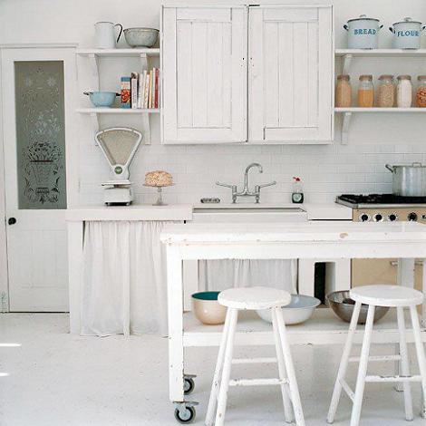 Decoraci n cocinas r sticas blancas - Cocinas rusticas blancas ...