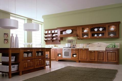 Decoraci n cocinas con muebles de madera cl sicas y modernas for Muebles de cocina de madera modernos