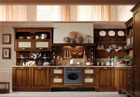 Decoraci n cocinas con muebles de madera cl sicas y modernas - Muebles de cocina madera rustica ...