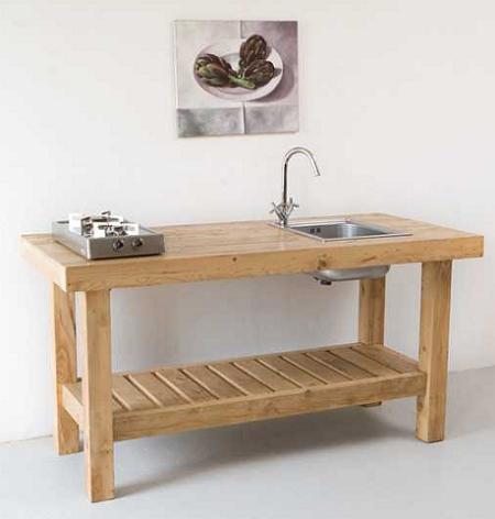 Decoraci n los muebles de cocina m s r sticos y - Muebles de madera rusticos para cocina ...