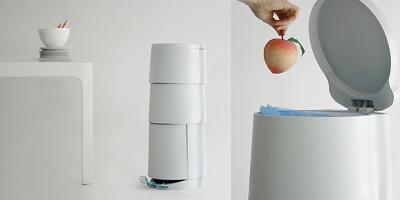 Cubo de basura de tres pisos para reciclar sin ocupar - Cubos de basura para reciclar ...