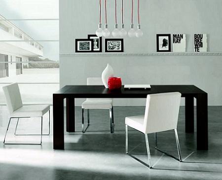 15 ejemplos de comedores con estilo bien resueltos for Comedores minimalistas para espacios pequenos