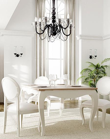Comedores vintage con mesas extensibles decoraci n for Comedor vintage blanco
