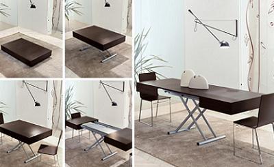 Mesa de centro convertible en mesa de comedor de Kibuc, ideal para ...