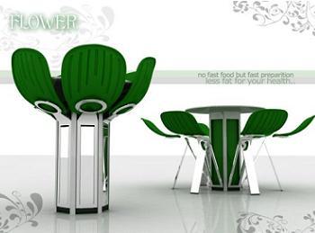 Original mesa de comedor para espacios esque os con forma for Mesa comedor original