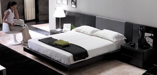 Blanco y negro dormitorio – Decoración