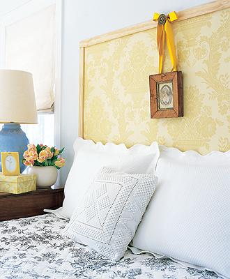 4 cabeceros originales para hacer t mismo en casa - Cabeceros papel pintado ...