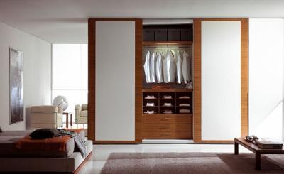 Decoraci n 25 fotos de armarios de dise o con puertas - Armario madera blanco ...