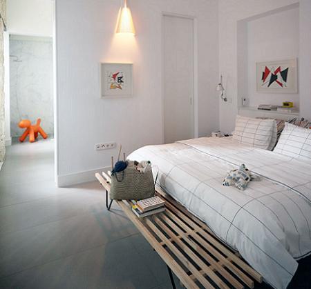 Decoraci n dormitorios en blanco y madera - Dormitorios en color blanco ...