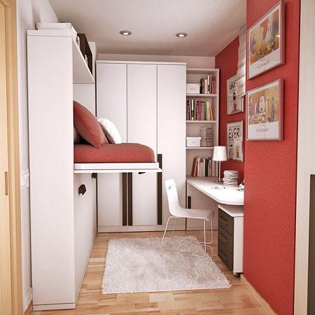 Habitaciones juveniles peque as decoraci n for Armarios para habitaciones pequenas