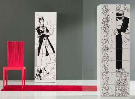 5 muebles con estampados de cómic