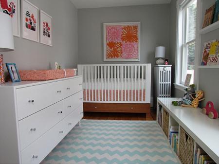 dormitorio de beb para nia