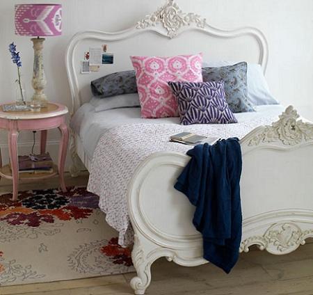 Dormitorio blanco decoraci n for Dormitorio vintage blanco