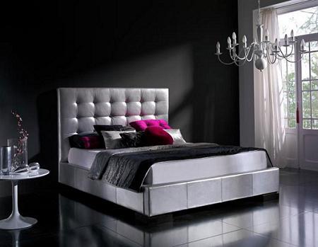 Decoraci n dormitorios principales muy chics con - Cabeceros acolchados cama ...