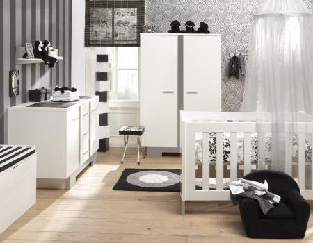 La habitaci n del beb en gris decoraci n - Color paredes habitacion bebe ...