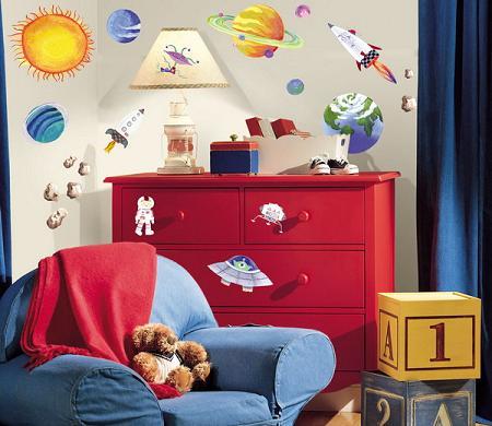 Habitación con decoración espacial