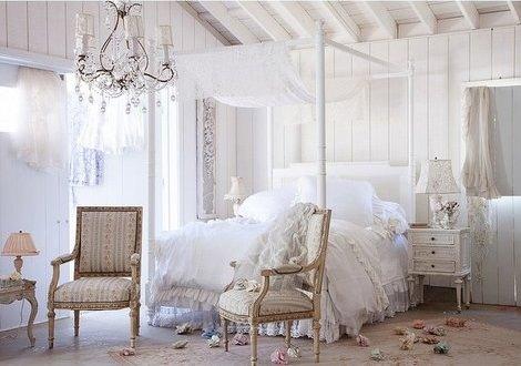 Ideas para decorar habitaciones con dosel decoraci n - Camas estilo romantico ...