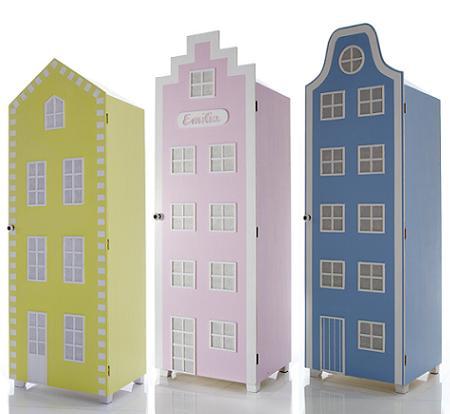 Muebles infantiles armario con forma de casa decoraci n - Armarios infantiles ...