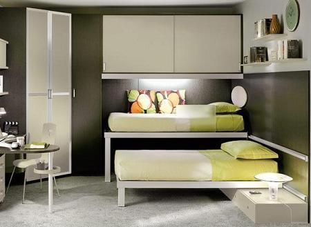 Decoraci n 50 fotos de dormitorios infantiles de dise o - Dormitorios infantiles de dos camas ...