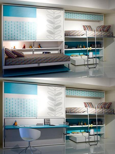 Decoración 14 camas plegables, para ahorrar espacio en el dormitorio