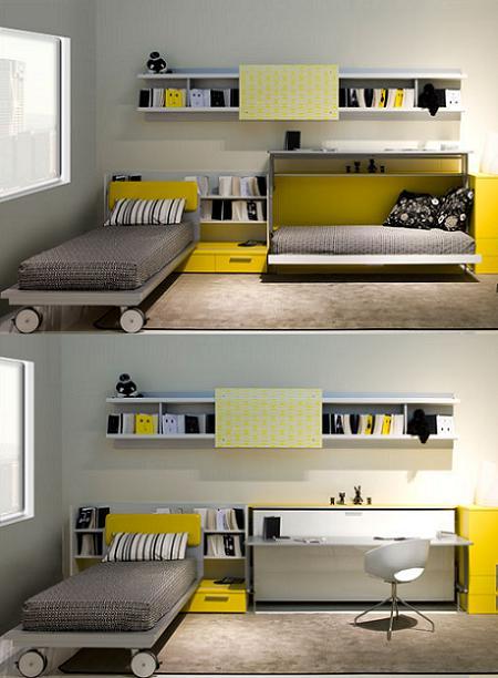 Decoraci n 14 camas plegables para ahorrar espacio en el - Camas muebles plegables ...