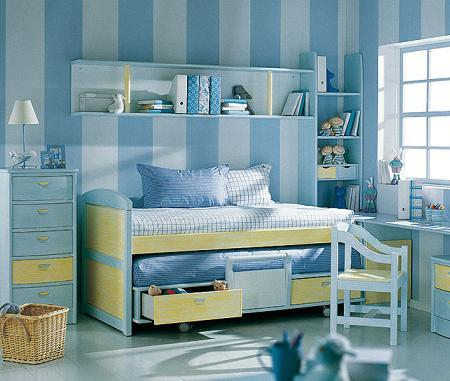 Habitaciones infantiles con rayas imagui - Dormitorios pintados a rayas ...