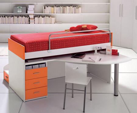 50 fotos de dormitorios infantiles de dise o decoraci n - Muebles funcionales para espacios reducidos ...