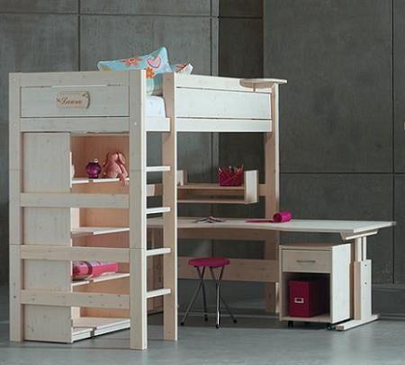 Decoraci n cama y escritorio infantil en un nico mueble - Camas infantiles con escritorio ...