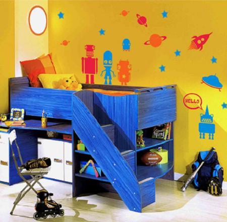10 ideas decoraci n dormitorios infantiles decoraci n - Camas con escritorio debajo precios ...