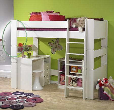 Decoraci n 10 ideas decoraci n dormitorios infantiles - Camas con escritorio debajo ...