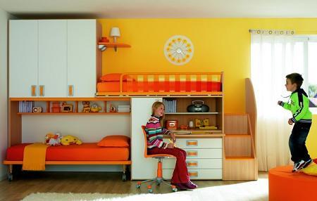 50 fotos de dormitorios infantiles de dise o decoraci n - Dormitorios infantiles dobles ...