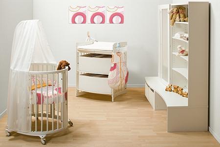 Encantador Muebles Cunas Redondas Bebés Adorno - Muebles Para Ideas ...