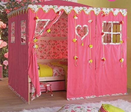 Ideas para decorar un dormitorio para ni a tipo princesa - Cama de princesa para nina ...
