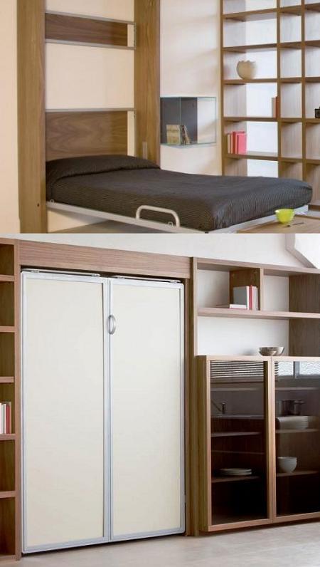 Decoraci n 14 camas plegables para ahorrar espacio en el - Cama empotrada en armario ...