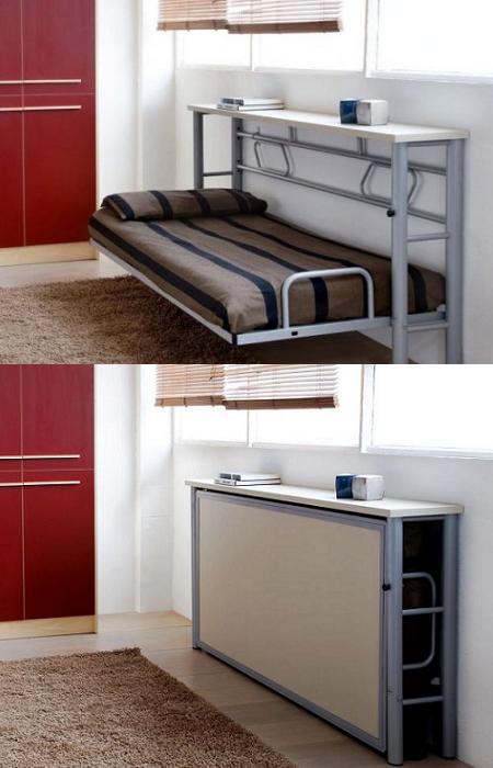 Decoraci n 14 camas plegables para ahorrar espacio en el - Camas plegables de pared ...