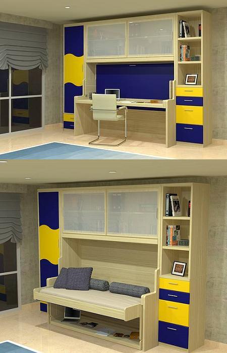 Decoraciu00f3n 14 camas plegables, para ahorrar espacio en el dormitorio