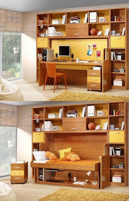 Decoraci n 14 camas plegables para ahorrar espacio en el - Decoracion habitacion individual ...